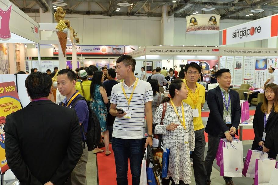 アジアアジア各国から来場者が集まった
