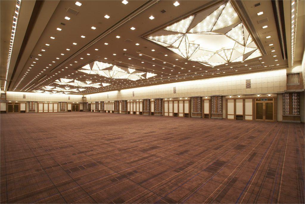▲帝国ホテル最大の催事スペース「孔雀の間」