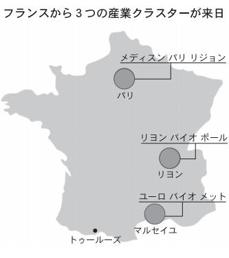 フランスから3つの産業クラスターが来日
