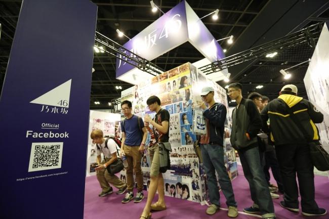 ▲アニメやゲーム、音楽など幅広い企業が出展している